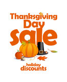 Thanksgiving day sale design. Royalty Free Stock Image