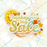 Thanksgiving Day sale. EPS 10 Royalty Free Stock Image