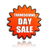 Thanksgiving day sale orange star banner Royalty Free Stock Images