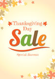 Thanksgiving day sale poster in vector Royalty Free Stock Images