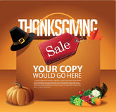 Thanksgiving Day Sale Shopping Bag Background Stock Image