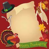 Thanksgiving day scrol royalty free illustration