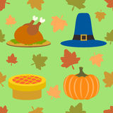 Thanksgiving day seamless background Stock Photos