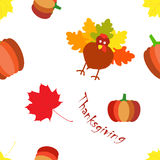 Thanksgiving day seamless colorful pattern Stock Images