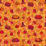Thanksgiving Day Seamless Pattern Stock Photos