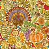 Thanksgiving day seamless pattern Royalty Free Stock Photo