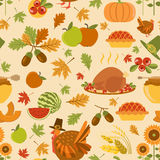 Thanksgiving day seamless pattern Royalty Free Stock Image
