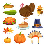 Thanksgiving Day Set Royalty Free Stock Photography