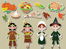 Thanksgiving day set icons Stock Image