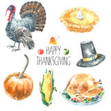 Thanksgiving Day set. Royalty Free Stock Photo