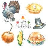 Thanksgiving Day set. Royalty Free Stock Photo