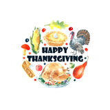 Thanksgiving Day set. Stock Photography