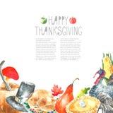 Thanksgiving Day set. Royalty Free Stock Photos