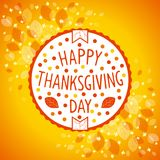 Thanksgiving day sign stock photo