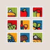 Thanksgiving Day stamp set. Harvest Stock Image
