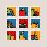 Thanksgiving Day stamp set. Harvest Royalty Free Stock Image