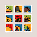 Thanksgiving Day stamp set. Harvest Stock Photography