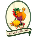 Thanksgiving day sticker Royalty Free Stock Photography