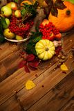 Thanksgiving day still life Royalty Free Stock Photos