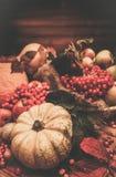Thanksgiving day still life Stock Photos
