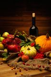 Thanksgiving day still life Royalty Free Stock Image