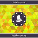 Thanksgiving Day Triangles Background Stock Image