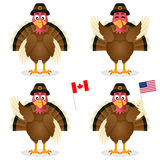 Thanksgiving Day Turkey Characters Set Royalty Free Stock Photo