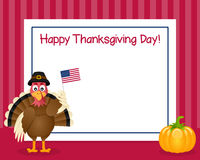Thanksgiving Day Turkey Horizontal Frame Stock Image