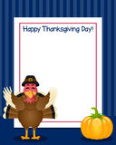 Thanksgiving Day Turkey Vertical Frame Stock Photography