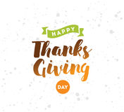 Thanksgiving day typography set. Royalty Free Stock Photography