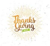 Thanksgiving day typography set. Stock Image
