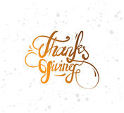 Thanksgiving day typography set. Royalty Free Stock Image