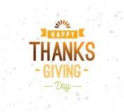 Thanksgiving day typography set. Royalty Free Stock Photos