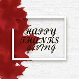 Thanksgiving day vector background with red autumn maple Royalty Free Stock Photos