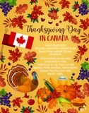 Thanksgiving day vector Canadian greeting poster Stock Photo