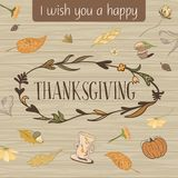 Thanksgiving Day Vector Card Royalty Free Stock Photography