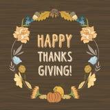 Thanksgiving Day Vector Card Stock Photo