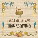 Thanksgiving Day Vector Card Stock Photography