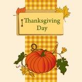 Thanksgiving Day. Vector pumpkin Stock Photo
