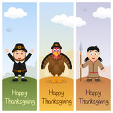 Thanksgiving Day Vertical Banners [2] Stock Photography