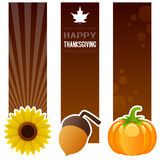 Thanksgiving Day Vertical Banners Stock Photo