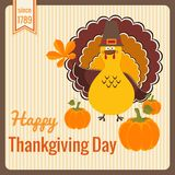 Thanksgiving Day vintage card. Royalty Free Stock Photos