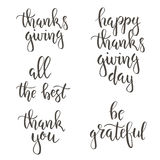 Thanksgiving day vintage gift tags and cards. Handwritten lettering. Royalty Free Stock Photo