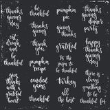 Thanksgiving day vintage gift tags and cards. Handwritten lettering. Royalty Free Stock Photography