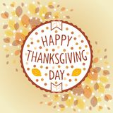 Thanksgiving day vintage label stock photos
