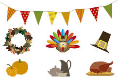 Thanksgiving dayjonge geitjes Royalty-vrije Stock Afbeeldingen
