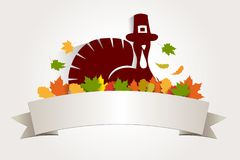Thanksgiving daymalplaatje Stock Afbeeldingen