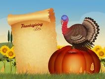 Thanksgiving dayprentbriefkaar Stock Fotografie