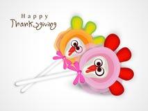 Thanksgiving dayviering met de lolly van Turkije Stock Fotografie