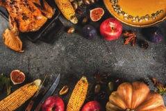 Thanksgiving dayvoedsel Royalty-vrije Stock Foto